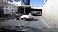 Epilepsi nöbeti geçiren motosikletli kadın ölümden döndü: O anlar kamerada