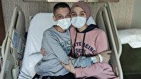 Karaciğer komasına giren ikizine ikinci hayat oldu