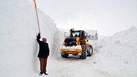 Muş'ta kar 6 metreye ulaştı:  'Kar Kaplanları'nın zorlu mücadelesi