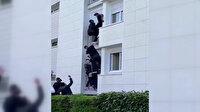 Fransa'da yangında mahsur kalan aileyi kurtarmak için seferber oldular