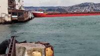 İstanbul Boğazı'nda facianın eşiğinden dönülen anlar kamerada