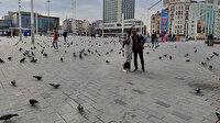 Kısıtlamalı cumartesi gününde meydanlarda: Taksim turistlere kaldı
