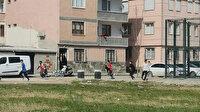 Bursa'da kısıtlamada parkta oynayan gençlerin polisten kaçma anı kamerada