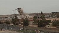 Gaziantep'te 60 yıllık silo 60 kilo dinamitle patlatılarak yıkıldı: Gökyüzünü toz bulutu sardı