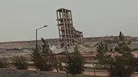 Gaziantep'te 60 yıllık silonun 60 kilo dinamitle yıkım anı kamerada