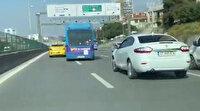 Kadıköy'de yolcu minibüsünün makas terörü