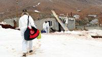 Aşı ekipleri kar kış, dağ tepe demeden köy köy gezerek çalışmalarını sürdürüyor