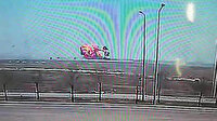 Konya'da askeri gösteri uçağının düşme anı