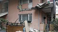 Üsküdar'da bir evin balkonu çöktü: Bina tahliye edildi