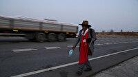 Robinson Ziya dededen anlamlı yürüyüş: 60 killometre yol katetti