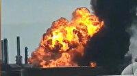 Meksika'da petrol rafinerisinde şiddetli patlama