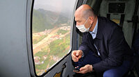 Bakan Soylu'yu taşıyan helikopter yoğun sis nedeniyle zorunlu iniş yaptı