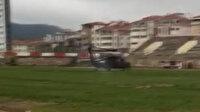 Bakan Soylu'yu taşıyan helikopter yoğun sis nedeniyle Bilecik'e acil iniş yaptı