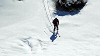 Terörden arındırılan Munzur Dağlarında dağ kayağı keyfi
