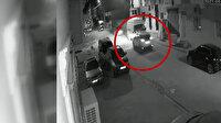 Park halindeki minibüse çarparak takla atan cip kamerada