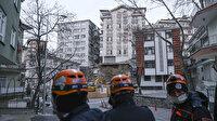 Ankara'da istinat duvarı çöken 8 katlı apartman yıkılıyor