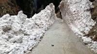 Rize'de çığ düşen yol 4 saatte açılabildi