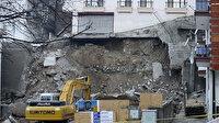 Ankara'da temeli kayıp çökme tehlikesi yaşayan bina nedeniyle 21 bina boşaltıldı: Sokaktaki asfaltta açılma oldu