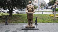 CHP'li belediyeden bir hizmet daha: Hatay'da 'Künefe çeviren adam' heykeli yeniden yerine monte edildi