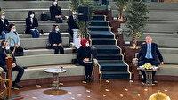 Cumhurbaşkanı Erdoğan'dan sürpriz program: Millet Kütüphanesi'nde gençlerle buluştu