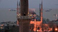 Ayasofya Camii'nde minareden ilk iftar ezanı okundu