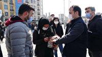 Taksim'i mesken tutan dilencilere operasyon: Zabıta ekipleri tek tek yakaladı