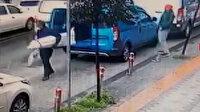 Yük indiren sürücünün araçtaki cep telefonunu çalan hırsız kamerada