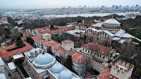 Ayasofya Camii'nin minaresinde tarihi yarımada