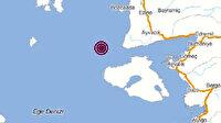 İzmir'den sonra bir deprem de Çanakkale açıklarında meydana geldi