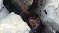 Adıyaman'da  3 gün önce kaybolan alzheimer hastası kadın kayalıkların arasında bulundu