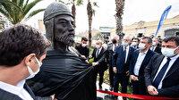CHP'li belediyeler heykelden vazgeçmiyor: Tunç Soyer Çaka Bey'in açılışını yaptı