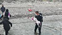 Denizde sürüklenince adada mahsur kaldılar: 48 göçmenin imdadına Sahil Güvenlik yetişti