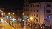 Ağrı'da sokağa çıkma kısıtlamasının başlamasıyla cadde ve sokaklar boş kaldı