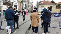 İstiklal Caddesi girişinde sıkı kontrol