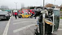 Boş yolda zincirleme kaza: Ortalık bir anda savaş alanına döndü