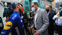 Bakan Kasapoğlu Mark Cavendish ile bir araya geldi