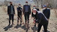 Tuşba Belediyesi'nden çiftçilere uygulamalı ağaç budama eğitimi