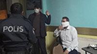 Esenyurt'ta kahvehane baskınında yakalandı: Polisten korkup tuvalet kağıdından maske yaptı