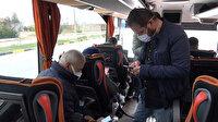 Kırıkkale'de otobüste koronavirüs paniği: 'Riskli' şoför sefer sırasında yakalandı