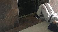 Asansör 11'inci kattan yere çakıldı: Baba oğlunu kucağına alarak kurtardı