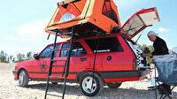 16 bin lira harcayıp karavan yaptı: Eski model otomobiliyle hayallerinin peşinden gidiyor