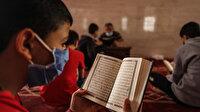 Gazzeli çocuklar ramazanı Kur'an-ı Kerim okuyup ezberleyerek geçiriyor