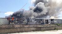 Esenler'de işçilerin kaldığı konteynerde yangın çıktı
