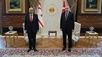 Cumhurbaşkanı Erdoğan KKTC Cumhurbaşkanı Tatar ile görüştü