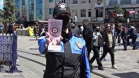 KADES uygulaması polis ekipleri tarafından İstiklal Caddesi'nde kadınlara tanıtıldı