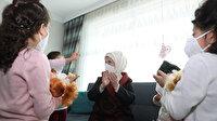 Emine Erdoğan sevgi evinde çocuklarla bir araya geldi