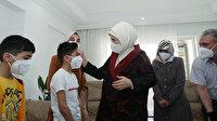 Emine Erdoğan'dan Suriyeli aileye iftar öncesi ziyaret