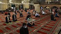 Selimiye'de 'sosyal mesafeli' cuma namazı