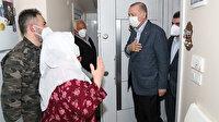 Cumhurbaşkanı Erdoğan'a Mahruze Keleş'i ziyareti sırasında yoğun sevgi gösterisi