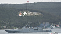 Çanakkale Boğazı'ndan geçen Rus savaş gemisi Ege'ye doğru açıldı